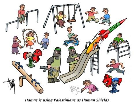 Hamász, élőpajzs, rajz